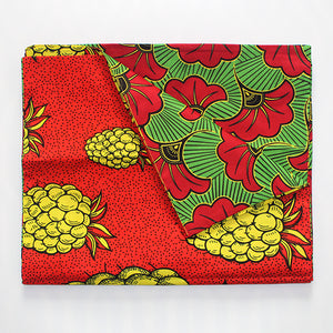 Eat Drink & Be Merry Table Runner - Yellow Pineapple & Red Trumpet