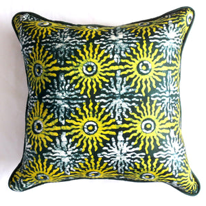 Green Sunburst Pillow Cover