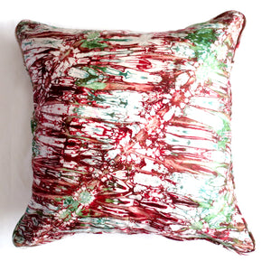 Red Green Splash 20x20 Pillow Cover