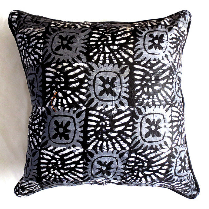 Black & White Foulard 20x20 Pillow Cover