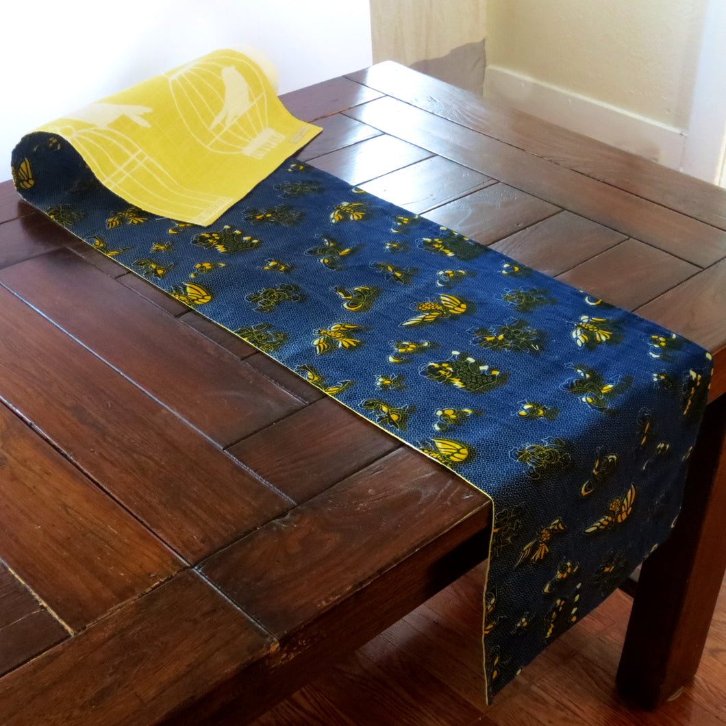 Blueberry Field Table Runner