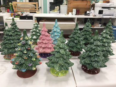 Paint Your Own Ceramic Tree and Cookie Swap Sunday 11/24 2pm-4pm