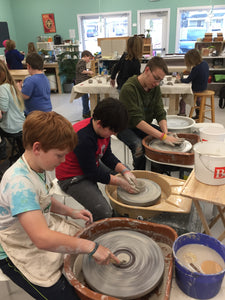 Pottery Classes for Kids with Sarah Tuesdays 12-1:30 Perfect for home-schooled kids!