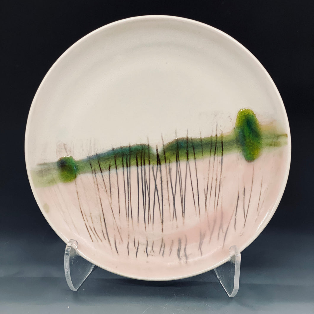 Pink Moon Lunch Plate Liz Proffetty Ceramics Item#LP2