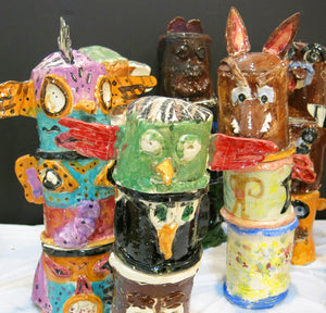 Week 2 Summer Kids Pottery Lessons 2019:Native American July 8,9,10  9-11am