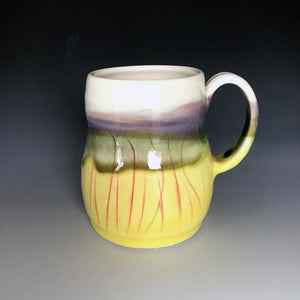 12 oz Buttercup Field Curvy Mug Liz Proffetty Ceramics Item#M3