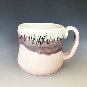 12 oz Pink Moon Field Curvy Mug Liz Proffetty Ceramics Item#M4