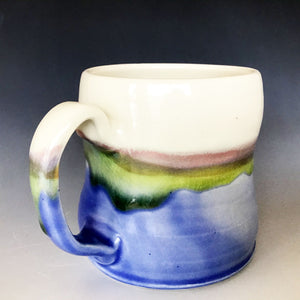 12 oz Mountain and Lakeshore Curvy Mug Liz Proffetty Ceramics Item#M6