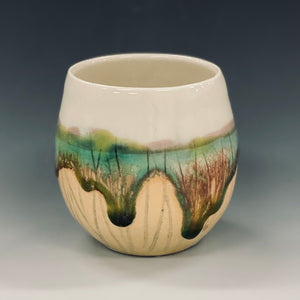 Salt Marsh Wine Cup Liz Proffetty Ceramics Item#WC10
