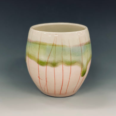 Pink Moon Wine Cup Liz Proffetty Ceramics Item#WC1