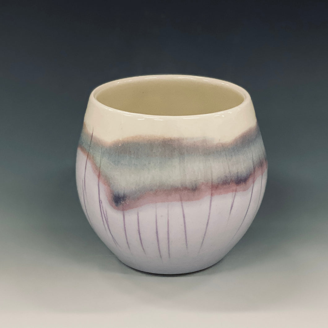 Magic Lavender Wine Cup Liz Proffetty Ceramics Item#WC5