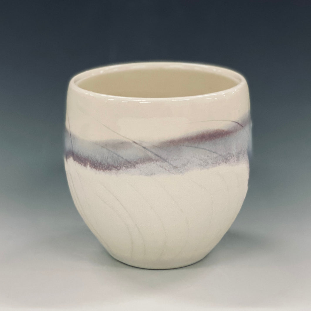 Snowy Field  Wine Cup Liz Proffetty Ceramics Item#WC9