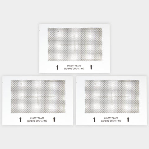 "3 Ceramic Ozone Plates Large for Ozone Generator Air Purifier 6.5""x4.5"""