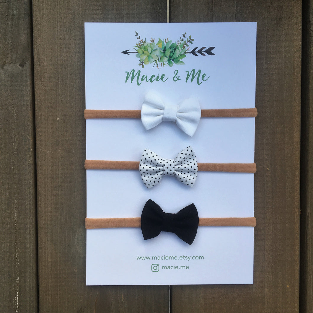 Basic Mini Bows (Set of 3)