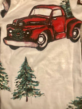 Personalized Truck and Christmas Tree  Children's Christmas PJ Set