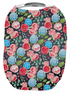 Navy Painted Peony 4 in 1 Cover