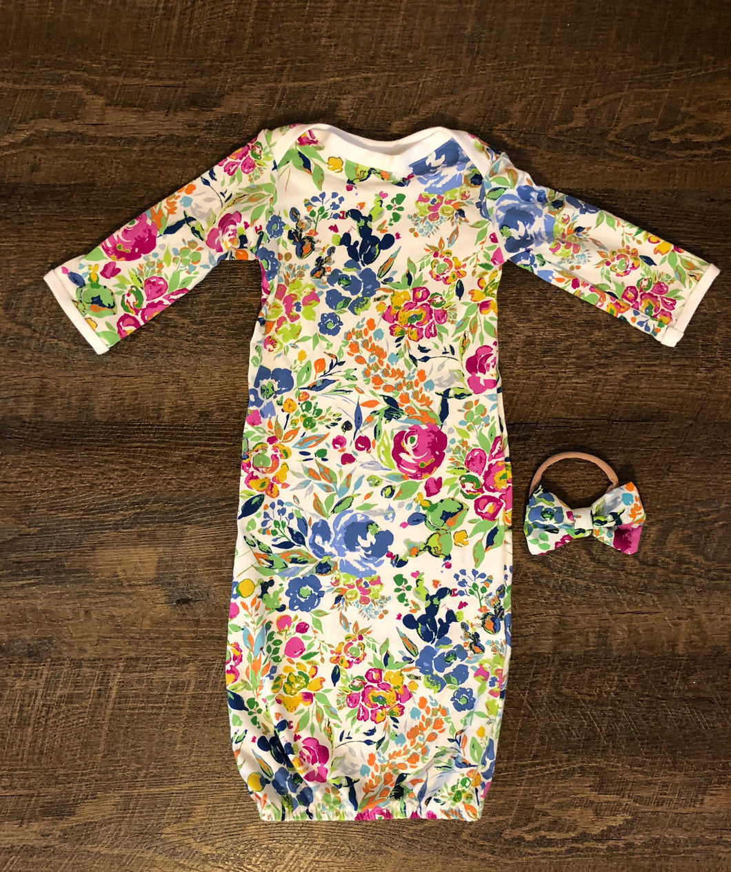Secret Garden Newborn Gown
