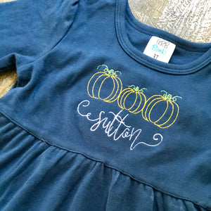 Pumpkin Personalized Dress