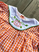 Pumpkin Embroidered  Dress