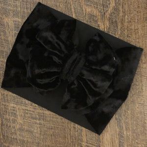 Velvet Black Headwrap