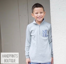 Boys Pullover with Gingham Collar