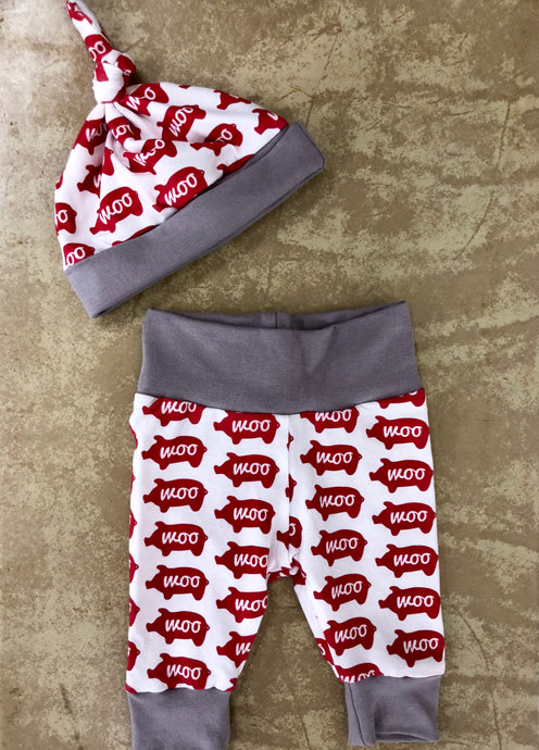 Woo Pig Newborn Pants & Hat Set