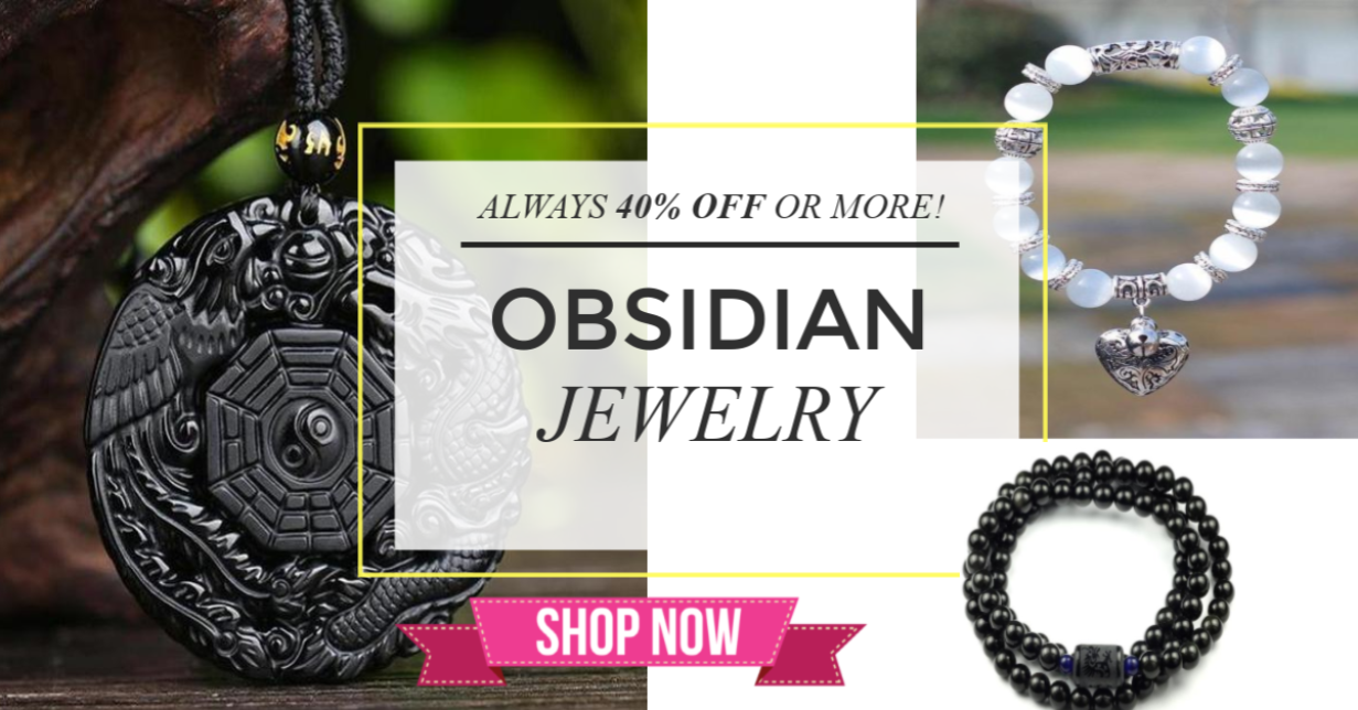 Obsidian Jewelry at Plusminusco.com