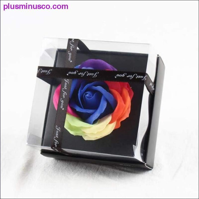 Simulation Rose Soap Flower With Ribbon Wedding Souvenir Valentines Day Gift Birthday Beautiful Gift - Plus Minus Co.