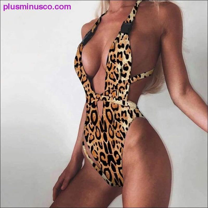 Sexy Bikini Swimwear Women Swimsuit Brazilian Bikini Set Green Print Halter Top Beach wear Bathing - Plus Minus Co.