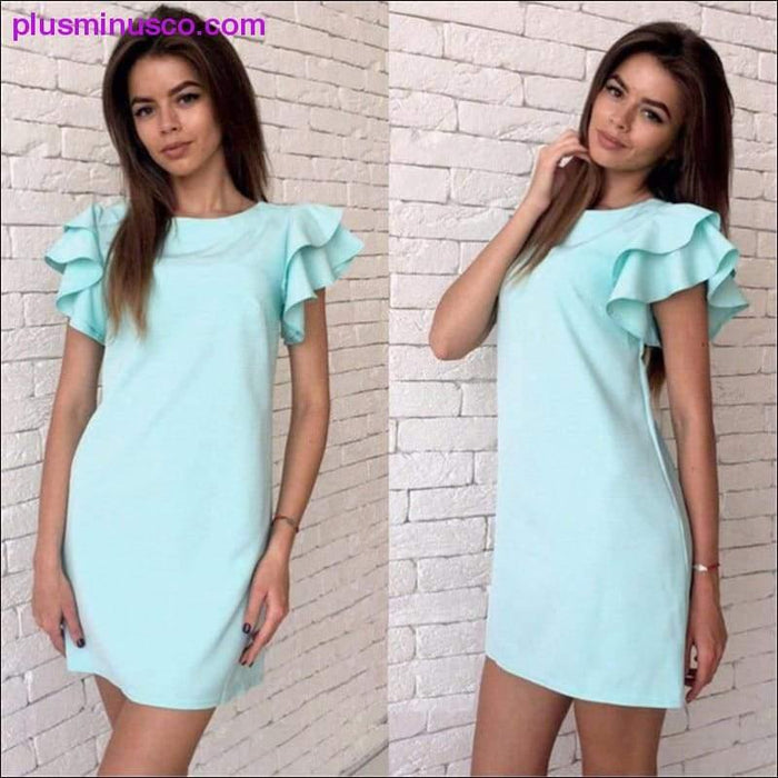 Fashion Butterfly Sleeve Straight Dress 2019 Summer Women's Sexy Backless Casual Style Beach Mini - Plus Minus Co.