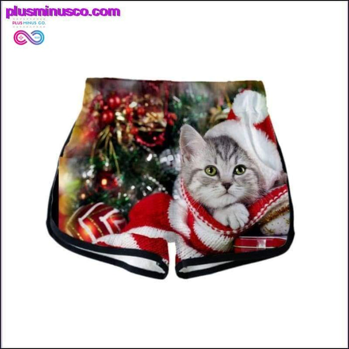 Summer Two Piece Sets 3d Cute Cat Printed Casual Shorts And - Plus Minus Co.