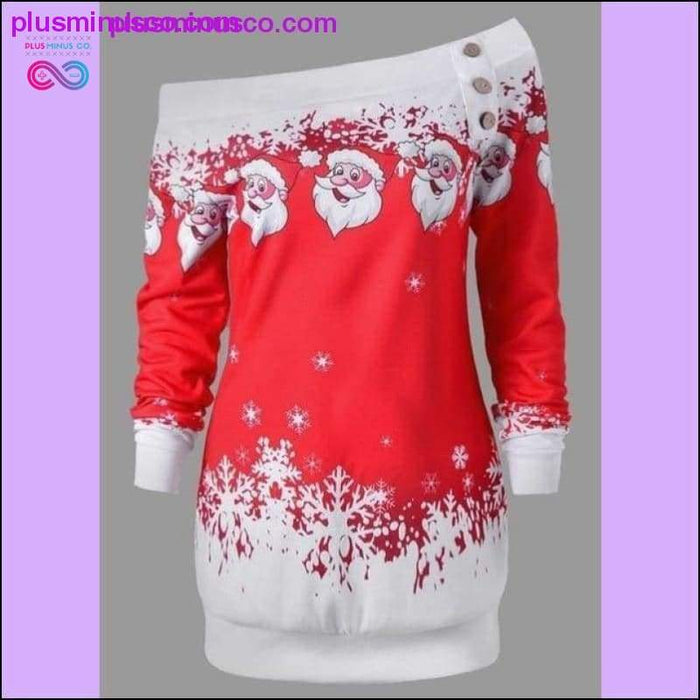 Casual Loose Christmas Dress with Plus Sizes available at - Plus Minus Co.