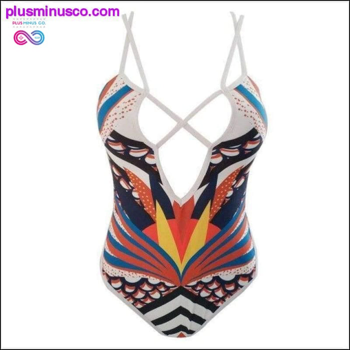 New Sexy Yellow White Backless One Piece Swimsuit Women - Plus Minus Co.