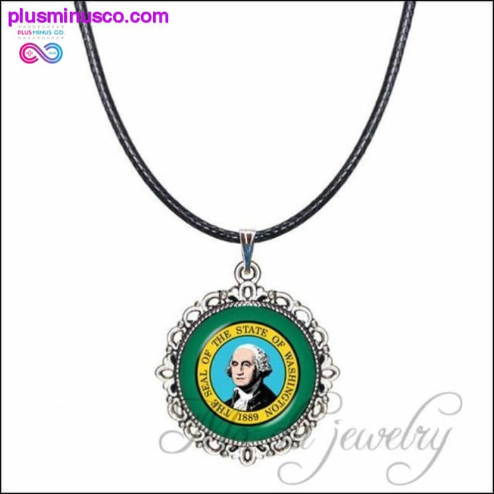 The State of Maryland Pendant Flag of MD Necklaces Maryland - Plus Minus Co.