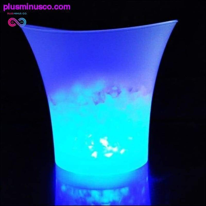 5L 3Colors LED RGB Light Changeable Ice Bucket Champagne - Plus Minus Co.