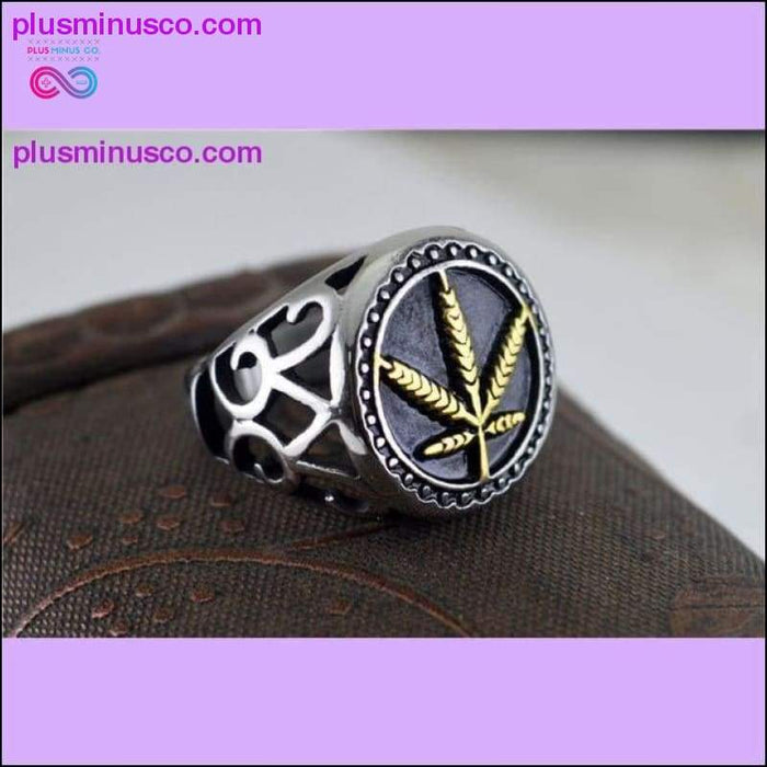 Two color Silver 316L Stainless Steel Weed Hemp Cannabis - Plus Minus Co.