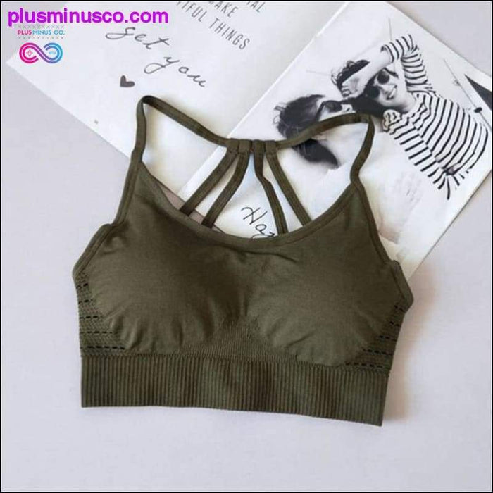 Seamless Sports Bra Top Yoga Active Wear For Fitness Gym - Plus Minus Co.