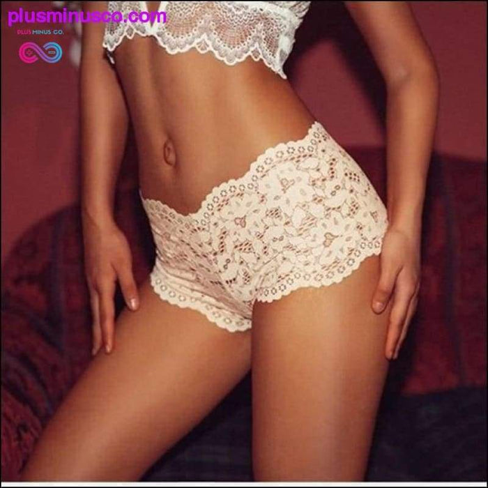 Low Waist Floral Temptation Lace Triangle Shorts for Yoga at - Plus Minus Co.