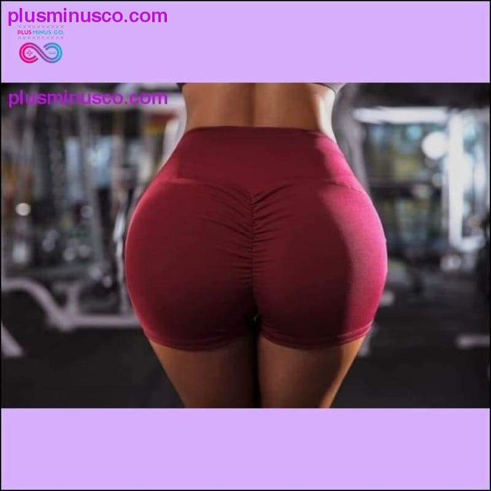 Sexy Short Workout Leggings with Pockets High Waist Plus - Plus Minus Co.