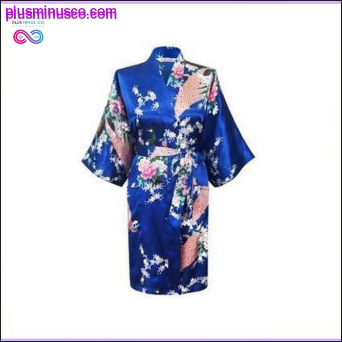 Rayon Robes Women Nightwear Flower Home Clothes Intimate - Plus Minus Co.
