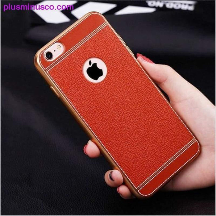 Luxury Soft Silicon Gold Plating case for iPhone, Protective back cover - Plus Minus Co.