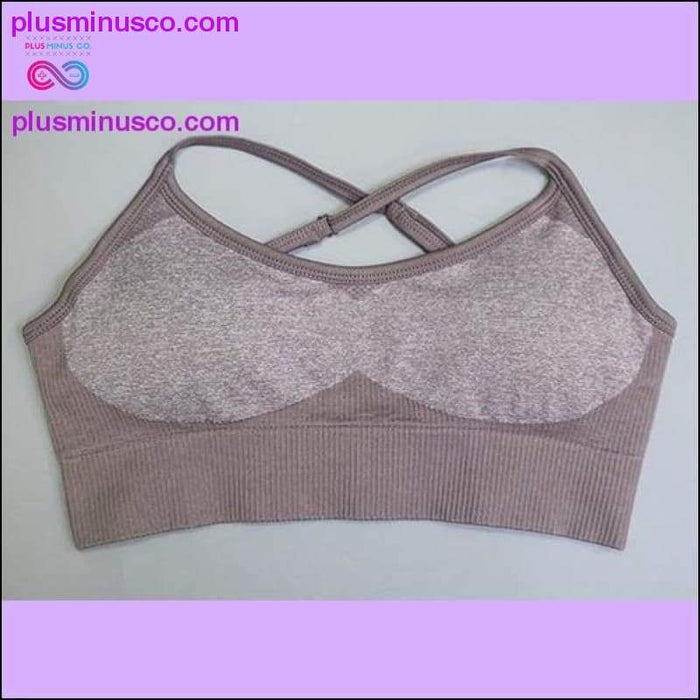 Sport Bra Tops για γυναίκες - Fitness Sexy Backless Quick Dry Gym Top Crop Push Up Padded Energy - Plus Minus Co.