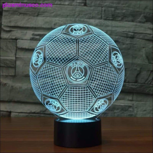 3D Illusion Lamp 7 Colouring Changing Visual Light Gift - Plus Minus Co.