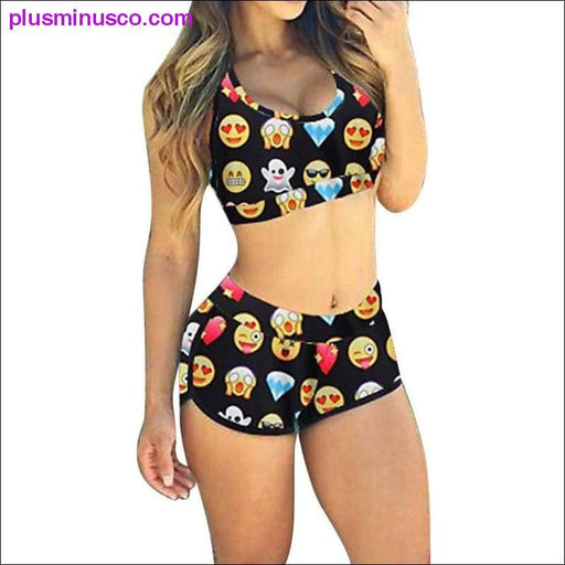 Emoji Bikini Swimsuit - Plus Minus Co.
