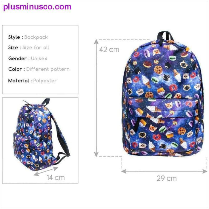 Emoji Canvas Backpack - Plus Minus Co.