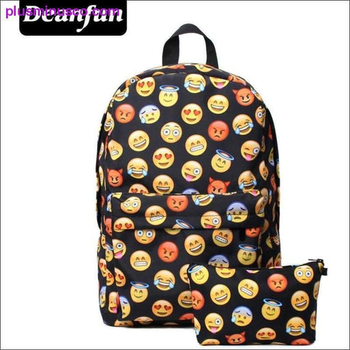 Emoji Print Backpack - Plus Minus Co.