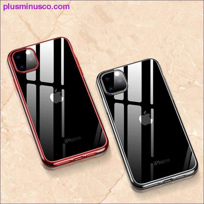Til iPhone 11-sag Laserplader Luksus TPU Soft Clear Cover til iPhone 11 Plus XI Max Pro 2019 - Plus Minus Co.