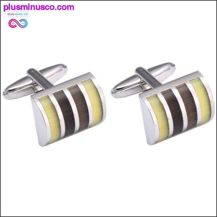 High End Cats Eye Cuff -links - Perfect Gifts for Wedding - Plus Minus Co.