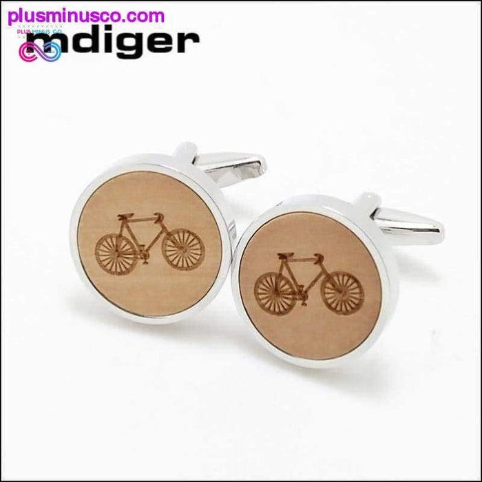 High Quality Handmade Wooden Carved Bicycles Pattern Tie - Plus Minus Co.