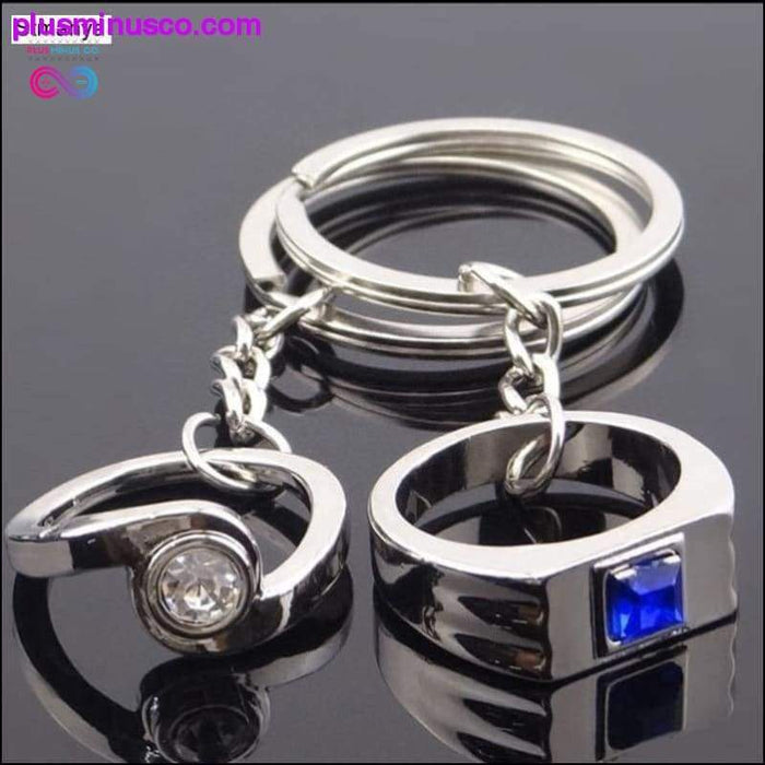 Lovers couple Crystal Keychains Best Party Gift Jewelry - Plus Minus Co.